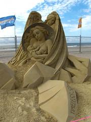 Mother and Infant (gaila3) Tags: ocean people sculpture sand artist nj atlanticcity boardwalk sandscape 2014 gaila3 worldchampionshipofsand