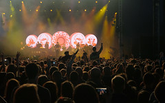(Nik Bucci) Tags: life uk party summer people music color bicycle festival electric club night radio lights 1 scotland big concert dancing coldplay weekend live crowd performance scottish august calvin bbc bombay british harris tone galsgow