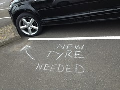 New Tyre Needed (VAGDave) Tags: park new car needed bald audi tyre bq q7