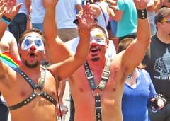 LAPride2 2014 218 (danimaniacs) Tags: shirtless man hot sexy guy smile leather beard losangeles hunk parade gaypride harness payaso hunky lapride22014