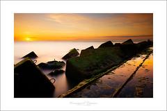 golden rocks (Emmanuel DEPARIS) Tags: sunset de long exposure sur pas poses emmanuel calais manche digue carnot longue