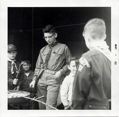 The Log Book Continued (rfulton) Tags: blackandwhite boys kids children boyscouts cubs cubscouts bsa