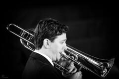 Trombonist (PortSite) Tags: bw music white black holland art netherlands nikon zwartwit nederland muziek classical trombone portret zwart wit zw 2014  portsite klassieke d3s