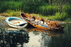 Merrily, merrily, merrily, merrily (Squatbetty) Tags: summer sunshine boats lakedistrict peaceful cumbria coniston rowingboats piercottage 2015calendarjuly