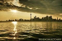 Ray of Light (Jamie Hedworth) Tags: urban toronto ontario canada cityscape cntower lakeontario torontoislands torontoskyline wideanglephotography jamiehedworthphotography
