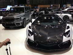 These are cars tuned by Mansory, The Lamborghini in front has now 1600bhp!
