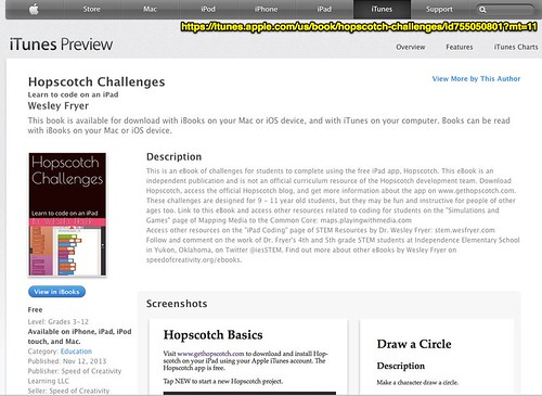 iTunes - Books - Hopscotch Challenges by by Wesley Fryer, on Flickr
