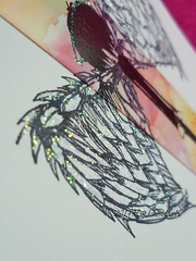 Stampotique Angel Boy Detail wings (Lindekes All Kind Of Shades) Tags: alcoholinks stampotique