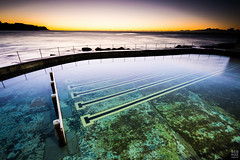 Transparency (sebr) Tags: beach pool lines swimming sunrise swimmingpool bronte lanes oceanpool brontebeach