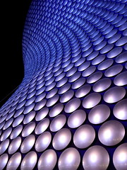 The Selfridges Building at night -  Bullring Shopping Centre, Birmingham, UK    {Explore - 12/07/2014 - Highest Position 487} (Andy_Hartley) Tags: city uk architecture night birmingham landmark architectural explore bullring futuresystems flickrexplore bullringshoppingcentre explored selfridgesdepartmentstore selfridgesstore steelframework