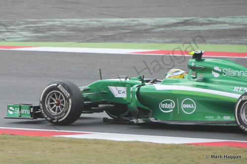 Marcus Ericsson during The 2014 British Grand Prix