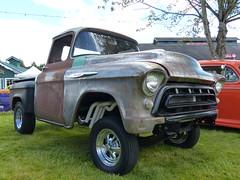 1957 Chevy (bballchico) Tags: chevrolet racecar truck pickup chevy 1957 carshow gasser billetproof dragstrip 2014 dragcar centraliawashing