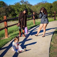 Refusing To Play Along (jayRaz) Tags: camera walking square toddler sitting texas photographer tx picture angry kira plano tantrum sullen fit irritated throwingafit arborhillsnaturepreserve