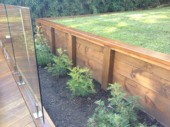 Decking and Glass Balustrading