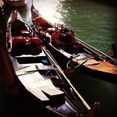 Old abundance lies idle. (FfotoMarc) Tags: venice square canal squareformat gondola venezia hefe iphoneography instagramapp