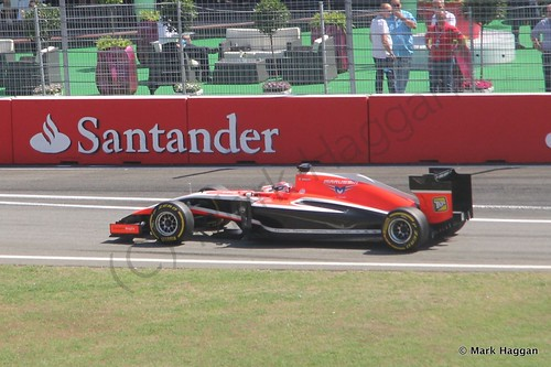 Jules Bianci in Free Practice 3 for the 2014 German Grand Prix