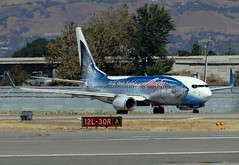 Alaska Airlines Boeing 737-890 Salmon Thirty Salmon Split Scimitar at San Jose Airport KSJC (NickFlightX) Tags: alaska airport san jose salmon international sjc boeing split airlines takeoff 737 scimitar thirty ksjc n559as