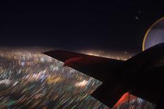 Night Flight from LA to SD (helmutfaugel) Tags: november usa sandiego nacht orte amerika 2008 flugzeug kalifornien flug ipp dienstreise aufnahmejahr aufnahmemonat dienstreisesandiego122008 embraeremb140