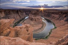 Horseshoe Bend Sunset - Page, Arizona (helikesto-rec) Tags: sunset arizona page horseshoe horseshoebend