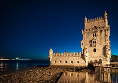 Torre de Belem (Javier Martinez de la Ossa) Tags: anochecer estrellas horaazul javiermartinezdelaossa lisboa manuelino portugal torredebelem