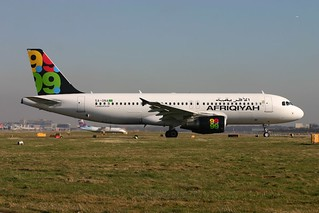 5A-ONA  A320-200 Afriqiyah Airways LGW 13.2.08