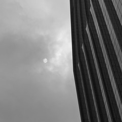 """obscure"" (hugo poon - one day in my life) Tags: gfx50s 63mm hongkong central aiacentral sun lookingup gray gloomy obscure cloud curtainwall architecture"