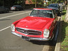 Bright red Mercedes 280 SL Automatic (Su_G) Tags: sug 2017 red car auto mercedes sydneynsw mercedes280slautomatic brightred redcar