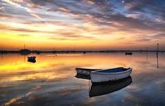 Dinghies at Dawn (Solent Poster) Tags: sunrise sunset emsworth harbour pentax k1 2470mm landscape seascape uk coast