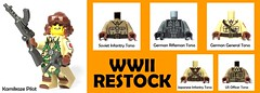 March 2017 - WW2 Fig Restocks (BrickWarriors - Ryan) Tags: brickwarriors custom lego minifigure weapon helmet armor gun ww2 world war wwii kamikaze officer general infantry rifle pistol