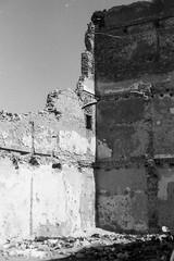 Ruins. (Aurelia Li) Tags: wall ruins essaouira morocco blackwhite analogue shadow geometry