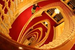 Bristol red staircase (LetsLetsLets) Tags: genova italia março 2017 hotelbristol escadas scale oval staircase architecture arquitectura archittetura elegante redcarpet carpetevermelha