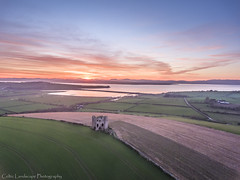 Burt Castle Donegal Ireland (Ken Finlay) Tags: countydonegal ireland ie burt castle donegal sunset stone ancient lough swilly fort hill ring inch island gaelic grass druids vikings sky