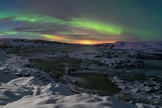 'Urridafoss Aurora' - Urriðafoss, Iceland