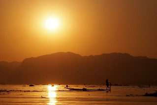 Lac Inle - coucher de soleil 3