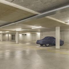 (Danny Holleman) Tags: covered car garage square fuji fujifilm britishracinggreen