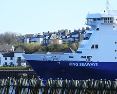 King Seaways Bow Detail - North Shields (Gilli8888) Tags: tyneandwear northsea southtyneside northshields southshields port ship boat vessel maritime portoftyne tynemouth dfds dfdsferry ferry kingseaways passengers amsterdamferry marine northtyneside bow nikon p900 coolpix