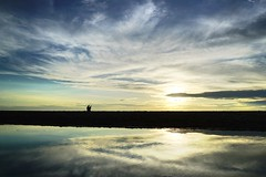 TOGETHER (fabio lf petry) Tags: praiadorosa beach sunset couple sillouette puddle reflections clouds