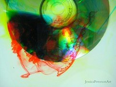 untitled (Jessica_Peterson) Tags: cd compact disc compactdisc blood water red green