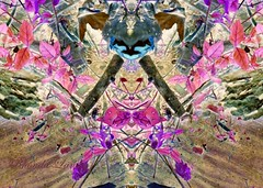 The Spring Bunny (rhonda_lansky) Tags: bunny rabbit spring life pink colors cottontail nature plantart natureart art leporidae hare mothernature springcolors color pinkcolors rhondalansky aurorarose1st outside outdoor outdoorart creature creatures surreal face