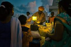 evening snacks (Mark Panszky) Tags: kanyakumari tamilnadu india vendor puri snacks gaslamp
