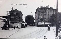 VITRY-94-Place-de-la-Gare vers 1930 (gpmetropole) Tags: cpa vitry port à l anglais edf centrale electrique ardoines