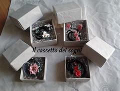 commissione1 (Il cassetto dei sogni) Tags: pastadimais porcellanafredda artigianali pendente orecchini fiori ninfea rosa