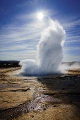 Strokkur (miguel_lorente) Tags: water sun geyser landscape iceland explosion geysir