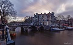 Amsterdam (alamsterdam) Tags: amsterdam papeneiland wind longexposure brouwersgracht prinsengracht architecture boats cafe bridge
