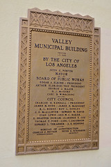 Valley Municipal Building, Los Angeles, CA (Robby Virus) Tags: losangeles la california ca valley municipal building moderne artdeco architecture vannuys city hall plaque marker historical