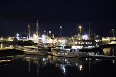 Ships in the Night (dcnelson1898) Tags: iceland reykjavik island snow winter travel capital nightphotography night boat
