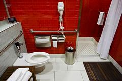 Bathroom tiles (A. Wee) Tags: deltaairlines 达美航空 skyclub airport lounge 机场 lax losangeles 洛杉矶 california 加州 usa america 美国 bathroom tile interior