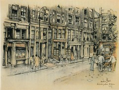 Anton Pieck- Bemin dan Amsterdam, 1948 ill  Leidseplein (janwillemsen) Tags: antonpieck amsterdam bookillustration 19451948