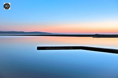 Marina Deelights (alun.disley@ntlworld.com) Tags: westkirby wales clwydhills welshmountains wirral jetty water watersports sunset dusk colour nature reflections island