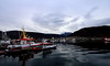 Tromso port (roxanne_eftichidi) Tags: tromso norway reflaction port clouds sky mountains